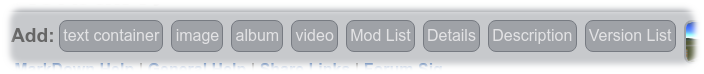 Craft version help toolbar