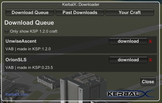 Kxmod download queue